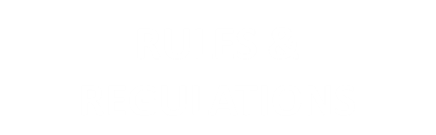 rules and regulations button with purple burst background